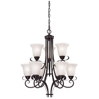 Thomas Lighting 1059CH/10 Brighton 9 Light Oil Rubbed Bronze Chandelier Ceiling Light