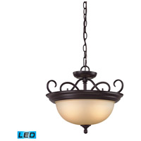 Chatham LED 17 inch Oil Rubbed Bronze Semi Flush Mount Ceiling Light
