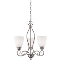 Chatham 3 Light 20 inch Brushed Nickel Chandelier Ceiling Light