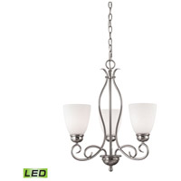 Chatham LED 20 inch Brushed Nickel Chandelier Ceiling Light