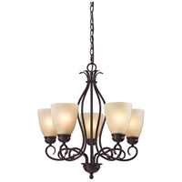 Chatham 5 Light 22 inch Oil Rubbed Bronze Chandelier Ceiling Light