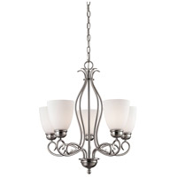 Chatham 5 Light 22 inch Brushed Nickel Chandelier Ceiling Light