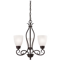 Chatham 3 Light 20 inch Oil Rubbed Bronze Chandelier Ceiling Light