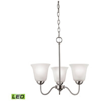 Conway LED 19 inch Brushed Nickel Chandelier Ceiling Light