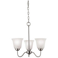 Conway 3 Light 19 inch Brushed Nickel Chandelier Ceiling Light