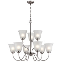 Thomas Lighting 1209CH/20 Conway 9 Light 26 inch Brushed Nickel Chandelier Ceiling Light
