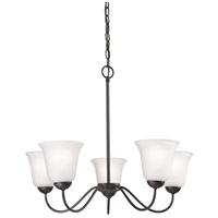 Conway 5 Light 26 inch Oil Rubbed Bronze Chandelier Ceiling Light