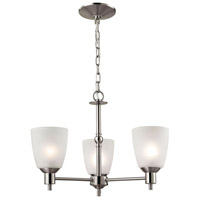 Jackson 3 Light 20 inch Brushed Nickel Chandelier Ceiling Light