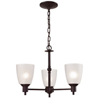 Jackson 3 Light 20 inch Oil Rubbed Bronze Chandelier Ceiling Light