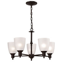 Jackson 5 Light 22 inch Oil Rubbed Bronze Chandelier Ceiling Light