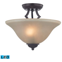 Kingston LED 13 inch Oil Rubbed Bronze Semi Flush Mount Ceiling Light