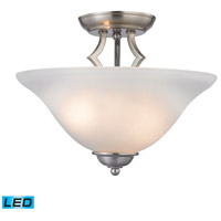 Kingston LED 13 inch Brushed Nickel Semi Flush Mount Ceiling Light