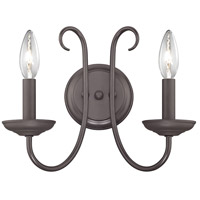 Williamsport 2 Light 12 inch Oil Rubbed Bronze Wall Sconce Wall Light