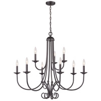 Williamsport 9 Light 34 inch Oil Rubbed Bronze Chandelier Ceiling Light