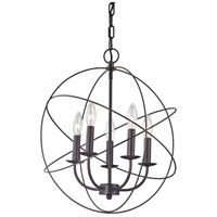 Thomas Lighting 1515CH/10 Williamsport 5 Light 18 inch Oil Rubbed Bronze Chandelier Ceiling Light