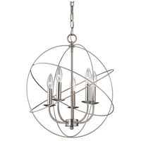 Williamsport 5 Light 18 inch Brushed Nickel Pendant Ceiling Light