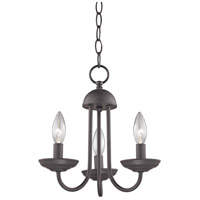 Williamsport 3 Light 12 inch Oil Rubbed Bronze Mini Chandelier Ceiling Light