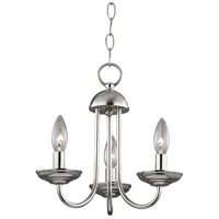 Williamsport 3 Light 12 inch Brushed Nickel Mini Chandelier Ceiling Light