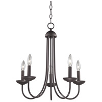 Williamsport 5 Light 20 inch Oil Rubbed Bronze Chandelier Ceiling Light