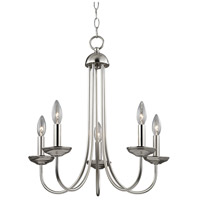 Williamsport 5 Light 20 inch Brushed Nickel Chandelier Ceiling Light