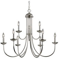 Williamsport 9 Light 34 inch Brushed Nickel Chandelier Ceiling Light