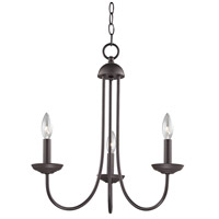 Thomas Lighting 1533CH/10 Williamsport 3 Light 20 inch Oil Rubbed Bronze Chandelier Ceiling Light