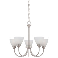 Tia 5 Light 23 inch Matte Nickel Chandelier Ceiling Light