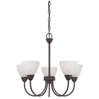 Tia 5 Light 23 inch Painted Bronze Chandelier Ceiling Light