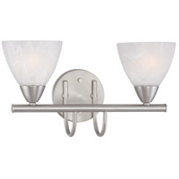 Tia 2 Light 16 inch Matte Nickel Wall Sconce Wall Light