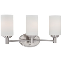 Pittman 3 Light 19 inch Brushed Nickel Wall Sconce Wall Light