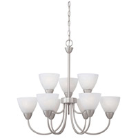Tia 9 Light 26 inch Matte Nickel Chandelier Ceiling Light