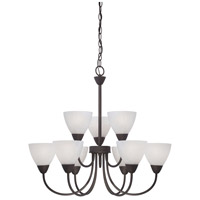 Tia 9 Light 26 inch Painted Bronze Chandelier Ceiling Light