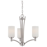 Pittman 3 Light 20 inch Brushed Nickel Chandelier Ceiling Light