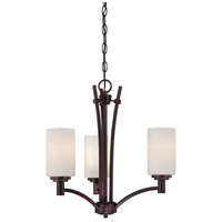 Pittman 3 Light 20 inch Sienna Bronze Chandelier Ceiling Light