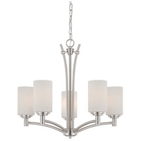 Pittman 5 Light 24 inch Brushed Nickel Chandelier Ceiling Light