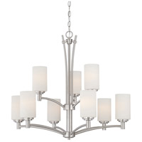 Pittman 9 Light 31 inch Brushed Nickel Chandelier Ceiling Light