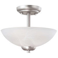 Tia 2 Light 12 inch Matte Nickel Pendant Ceiling Light