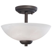 Tia 2 Light 12 inch Painted Bronze Pendant Ceiling Light