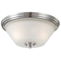 Thomas Lighting 190071217 Pittman 2 Light 14 inch Brushed Nickel Flush Mount Ceiling Light