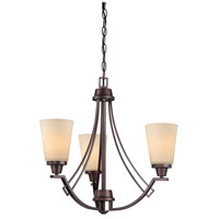 Wright 3 Light 22 inch Espresso Chandelier Ceiling Light