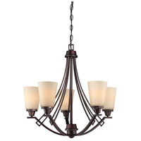 Thomas Lighting 190110704 Wright 5 Light 26 inch Espresso Chandelier Ceiling Light
