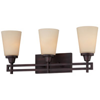 Wright 3 Light 23 inch Espresso Wall Sconce Wall Light