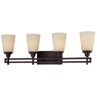 Wright 4 Light 32 inch Espresso Wall Sconce Wall Light
