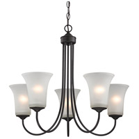 Charleston 5 Light 26 inch Oil Rubbed Bronze Chandelier Ceiling Light