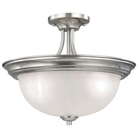 Bristol Lane 3 Light 16 inch Brushed Nickel Semi Flush Mount Ceiling Light