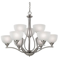 Thomas Lighting 2109CH/20 Bristol Lane 9 Light 32 inch Brushed Nickel Chandelier Ceiling Light