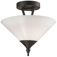 Tribecca 2 Light 12 inch Oil Rubbed Bronze Semi Flush Mount Ceiling Light