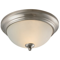 Huntington 2 Light 11 inch Brushed Nickel Flush Mount Ceiling Light