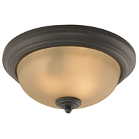 Huntington 2 Light 13 inch Oil Rubbed Bronze Flush Mount Ceiling Light