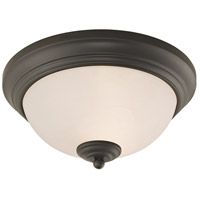 Huntington 2 Light 11 inch Oil Rubbed Bronze Flush Mount Ceiling Light